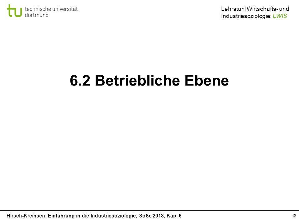 6.2 Betriebliche Ebene