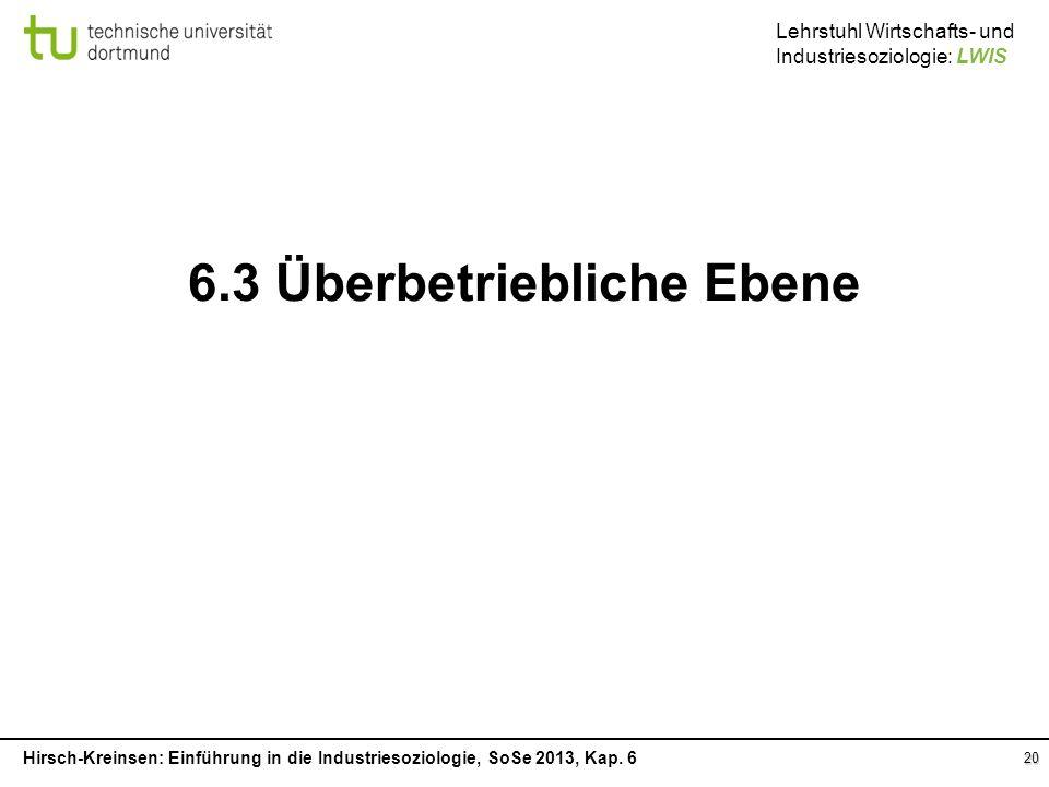 6.3 Überbetriebliche Ebene