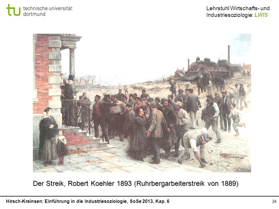 Der Streik, Robert Koehler 1893 (Ruhrbergarbeiterstreik von 1889)