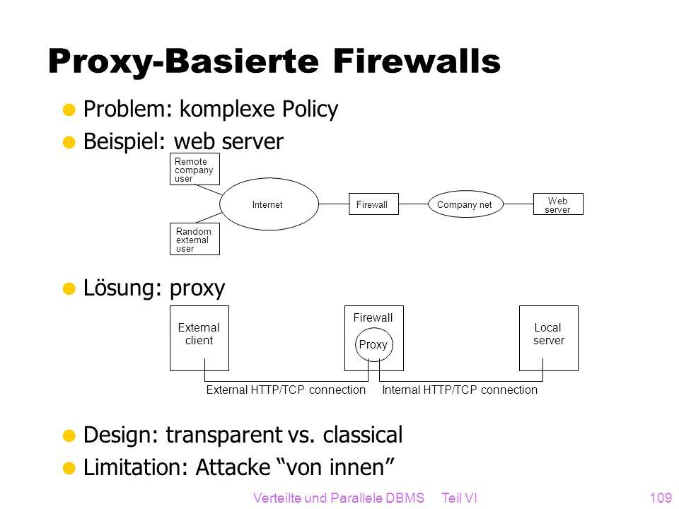 Proxy-Basierte Firewalls