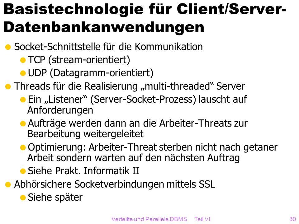 Basistechnologie für Client/Server-Datenbankanwendungen