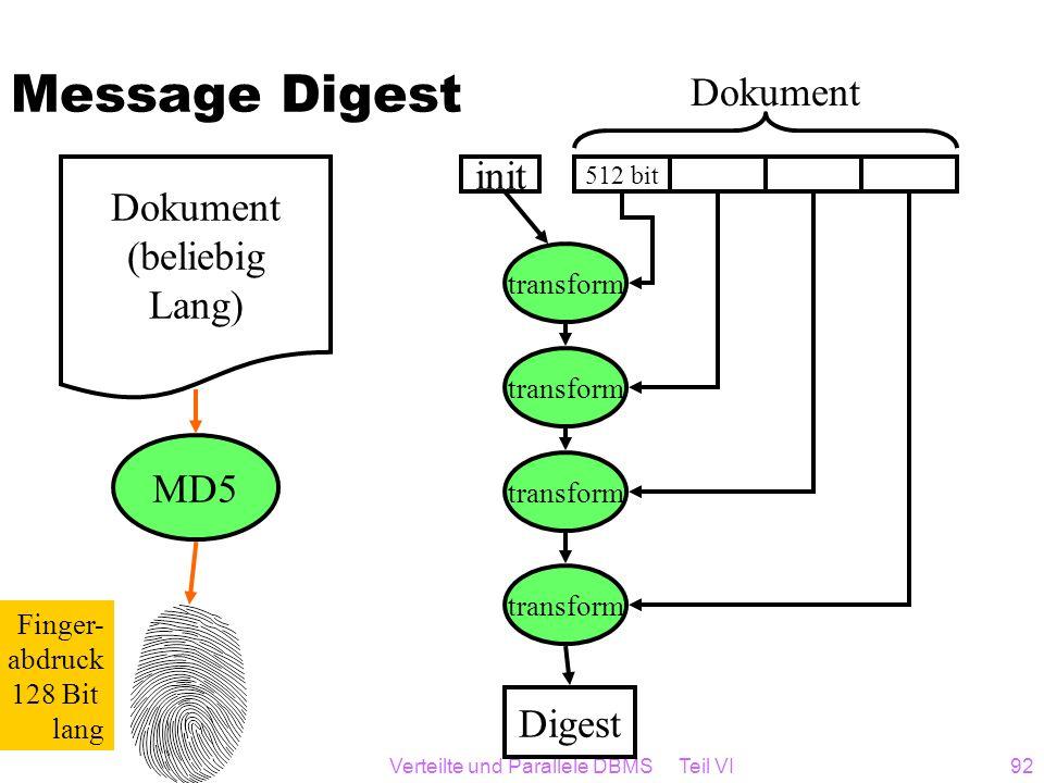 Verteilte und Parallele DBMS Teil VI