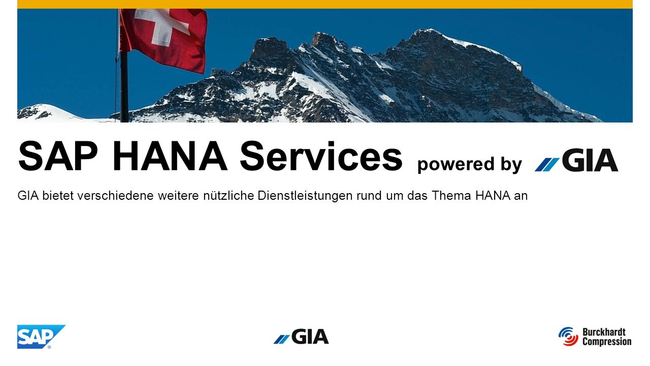 SAP HANA Services powered by