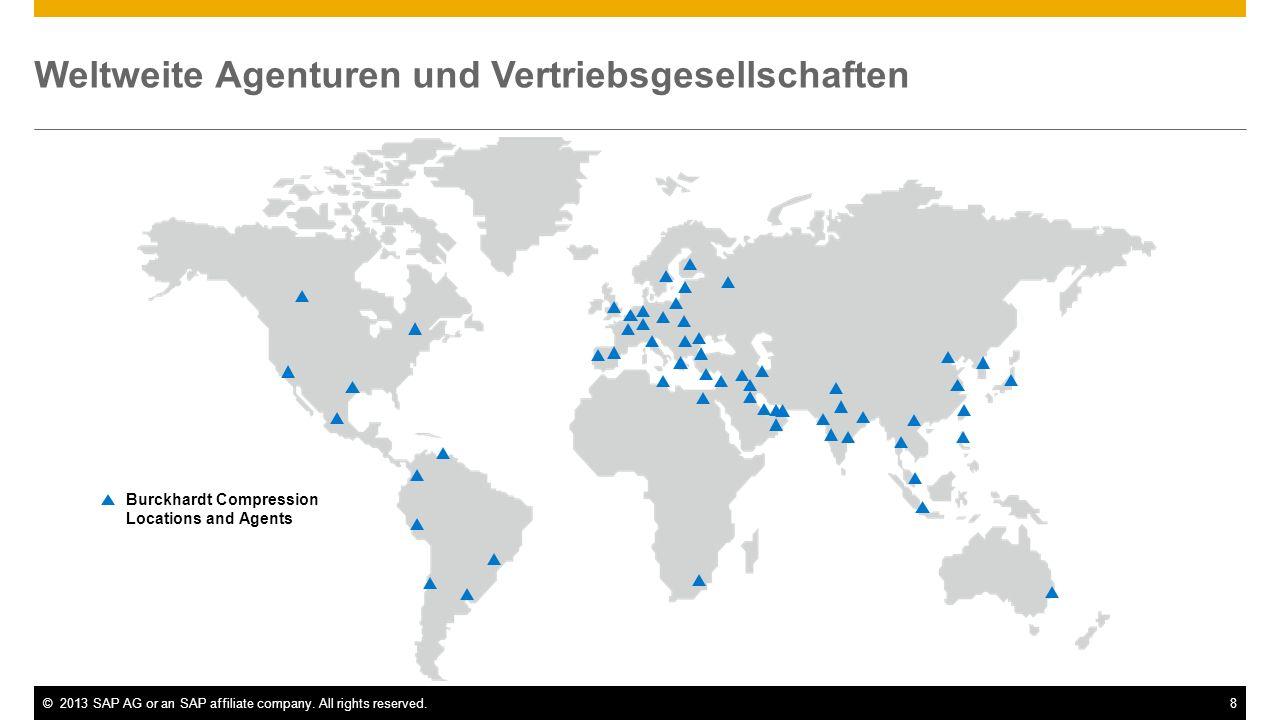 Weltweite Agenturen und Vertriebsgesellschaften