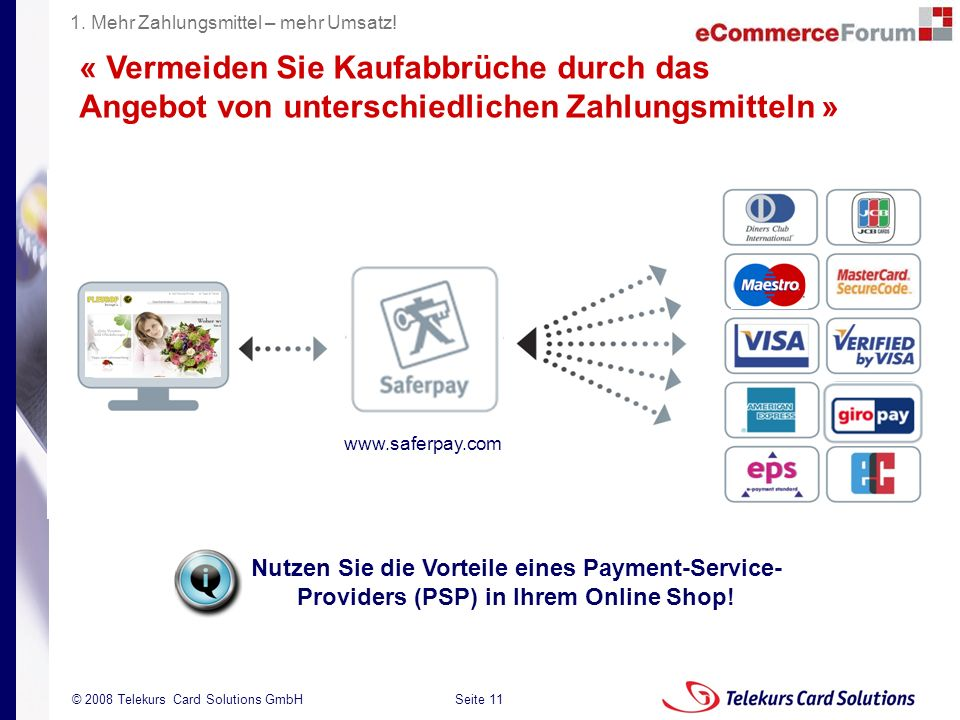 1. Mehr Zahlungsmittel – mehr Umsatz!