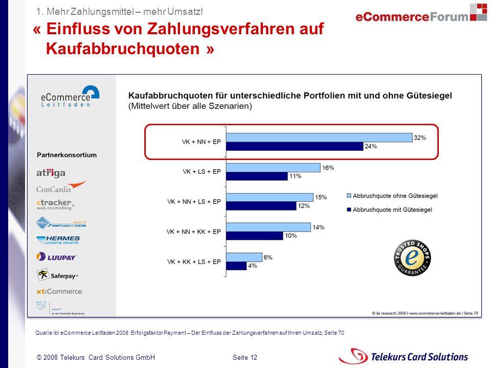 « Einfluss von Zahlungsverfahren auf Kaufabbruchquoten »