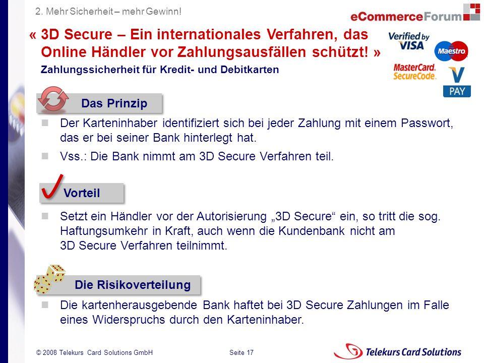 2. Mehr Sicherheit – mehr Gewinn!
