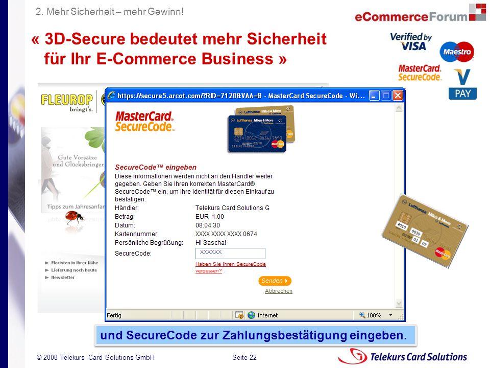 « 3D-Secure bedeutet mehr Sicherheit für Ihr E-Commerce Business »