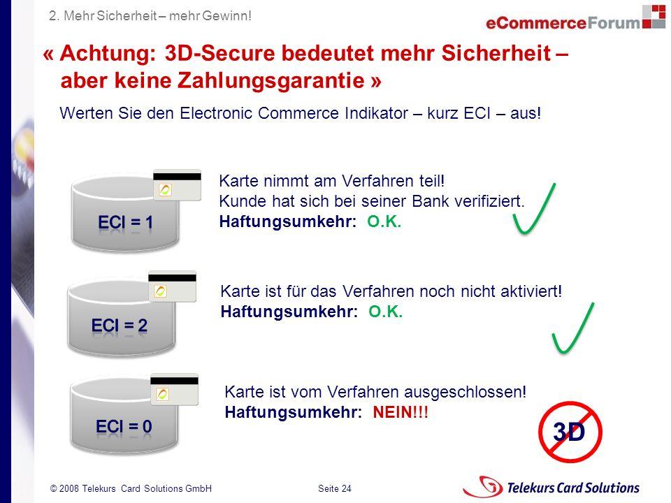 3D « Achtung: 3D-Secure bedeutet mehr Sicherheit –