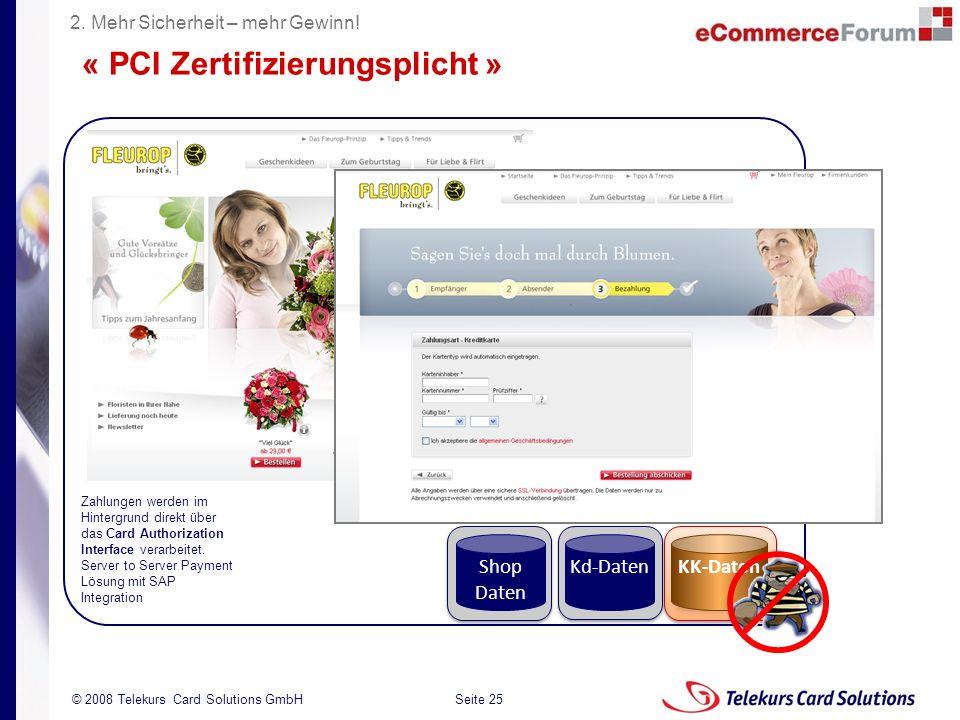 « PCI Zertifizierungsplicht »