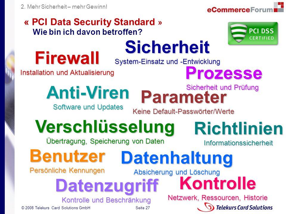 « PCI Data Security Standard » Wie bin ich davon betroffen
