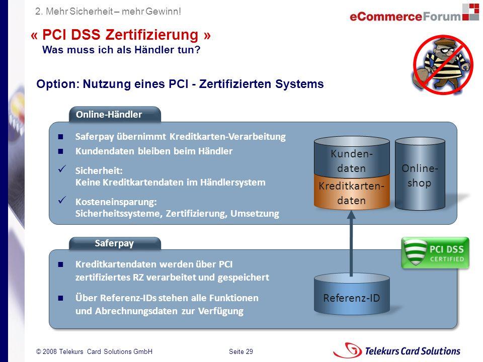 « PCI DSS Zertifizierung »