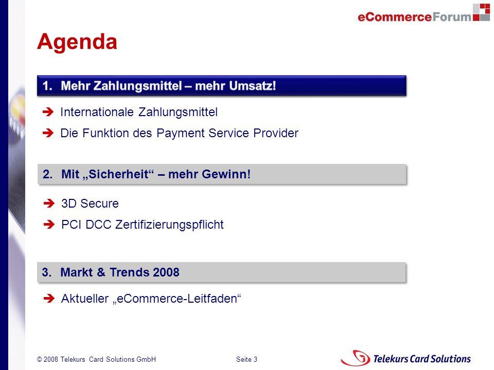 Agenda 1. Mehr Zahlungsmittel – mehr Umsatz!