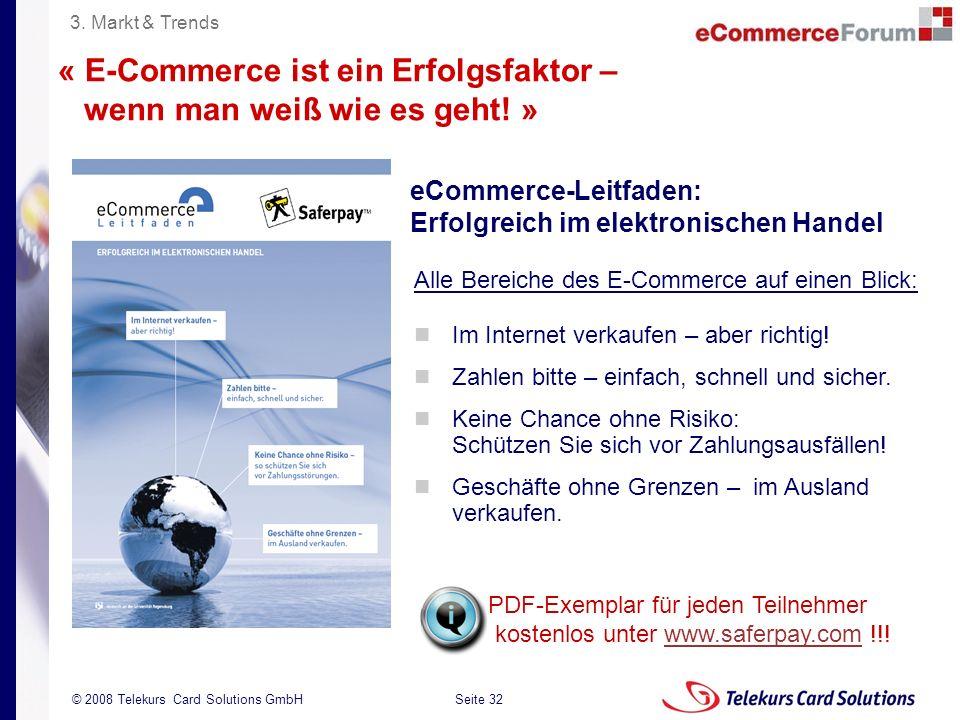 « E-Commerce ist ein Erfolgsfaktor – wenn man weiß wie es geht! »