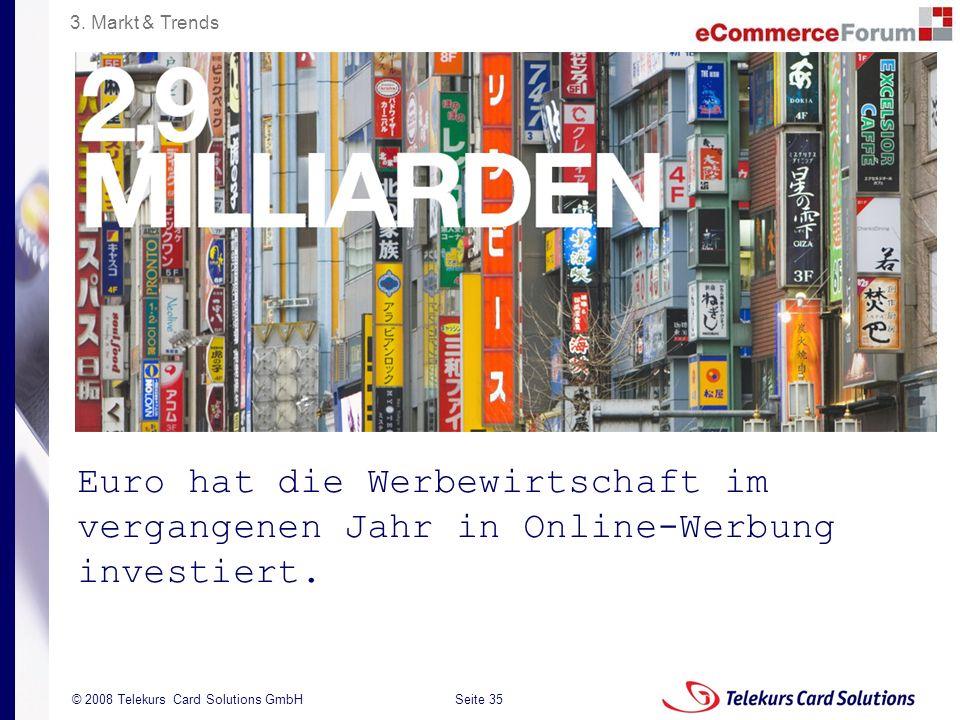 3. Markt & Trends Euro hat die Werbewirtschaft im vergangenen Jahr in Online-Werbung investiert.