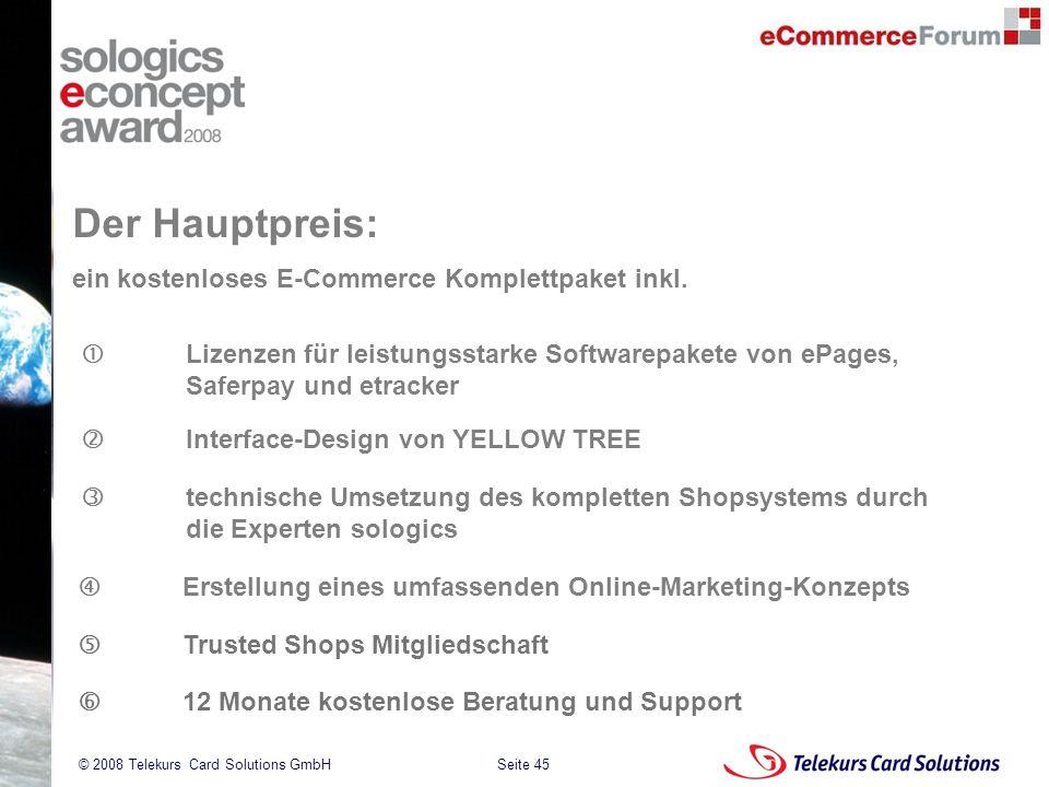 Der Hauptpreis: ein kostenloses E-Commerce Komplettpaket inkl.