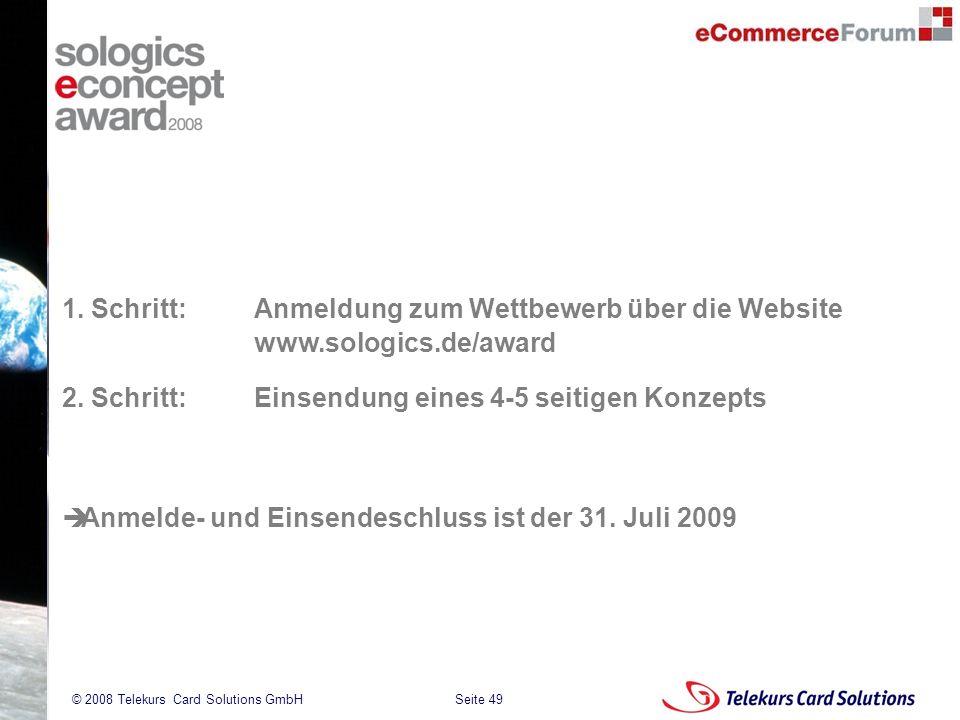 1. Schritt:. Anmeldung zum Wettbewerb über die Website. www. sologics