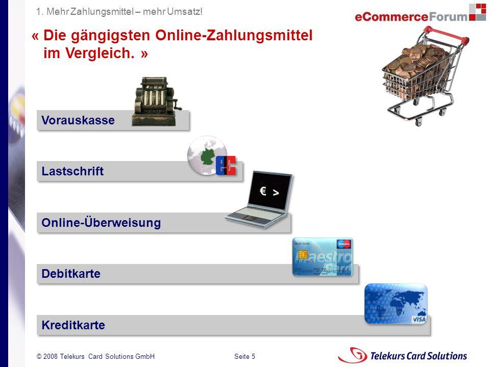 « Die gängigsten Online-Zahlungsmittel im Vergleich. »