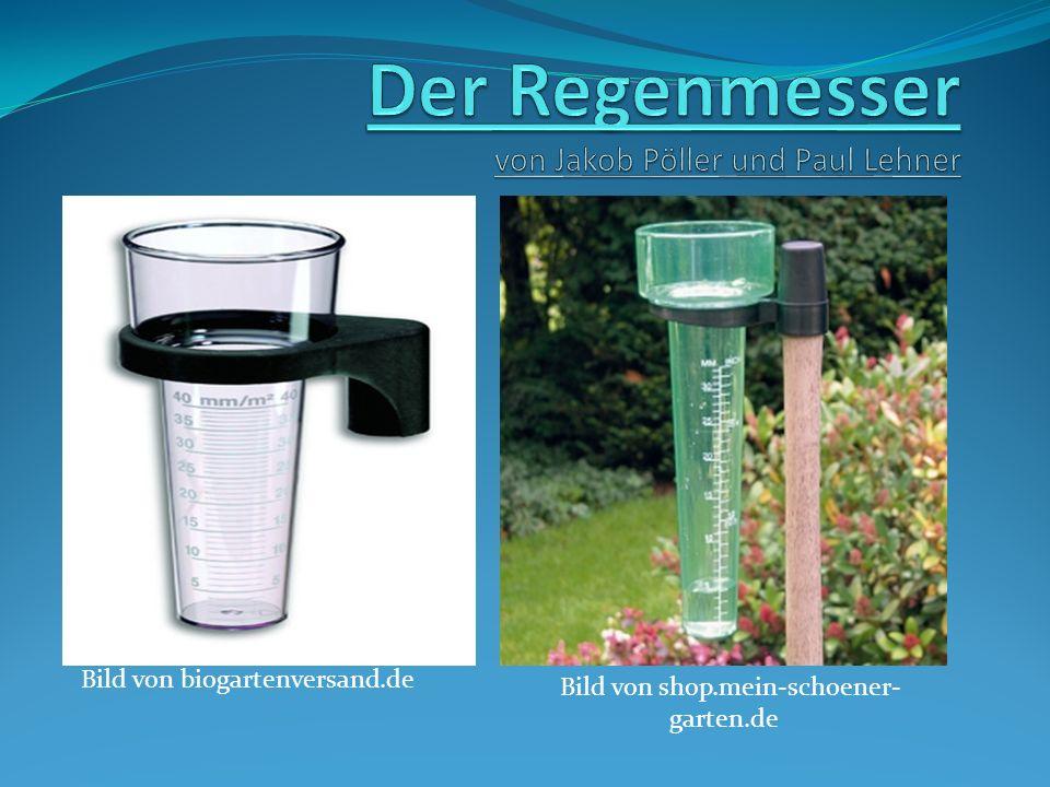 Der Regenmesser von Jakob Pöller und Paul Lehner