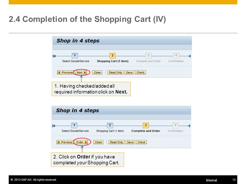 2.4 Completion of the Shopping Cart (IV)