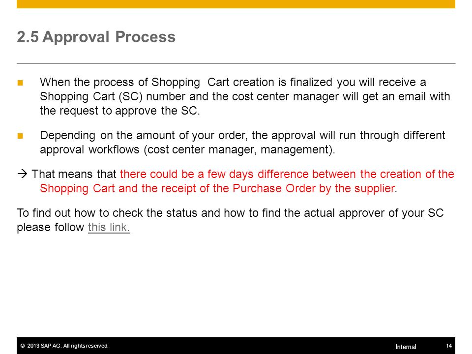 2.5 Approval Process