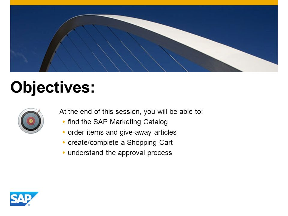 Objectives: At the end of this session, you will be able to: