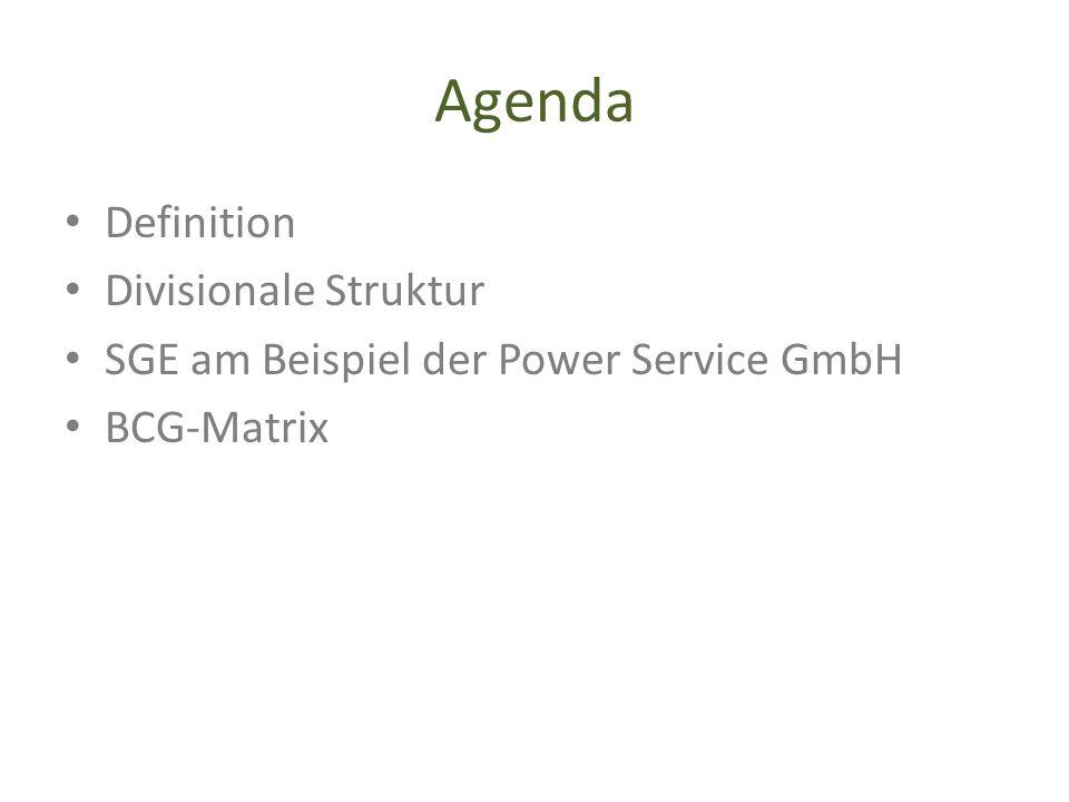 Agenda Definition Divisionale Struktur