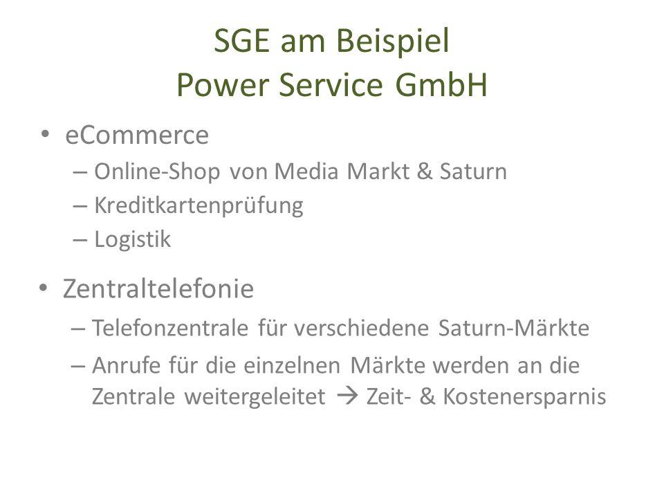SGE am Beispiel Power Service GmbH