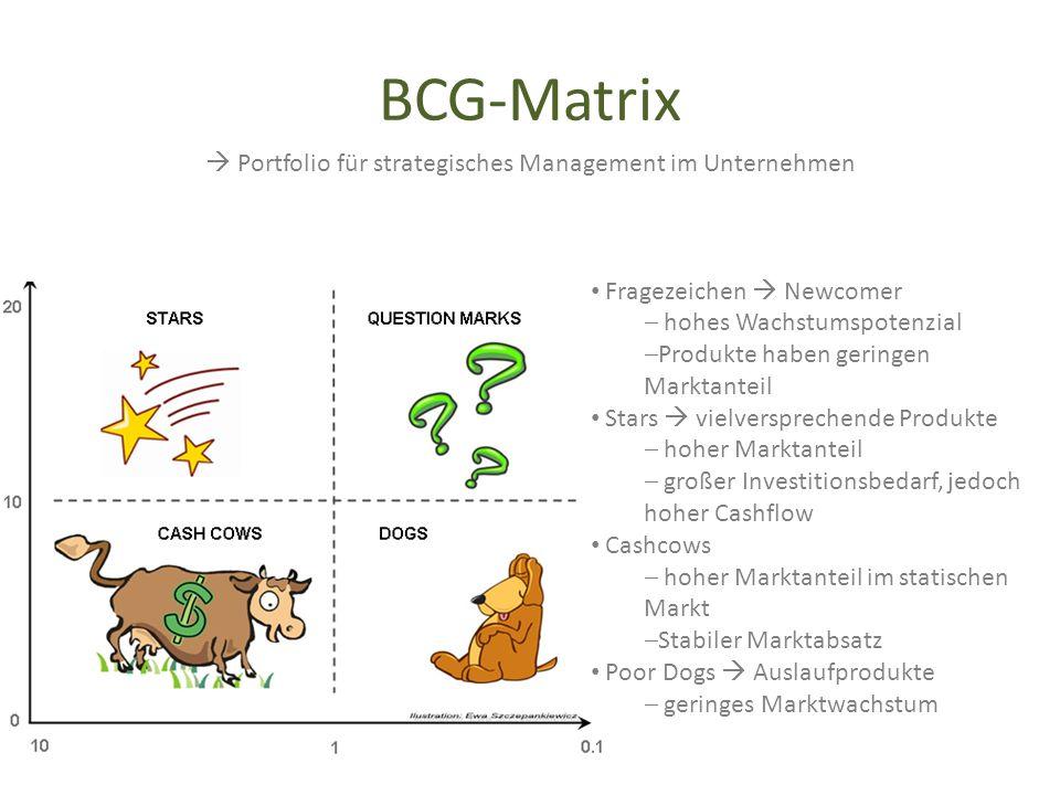  Portfolio für strategisches Management im Unternehmen