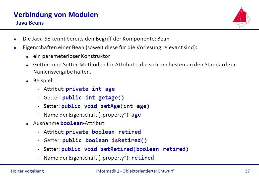 Verbindung von Modulen Java-Beans
