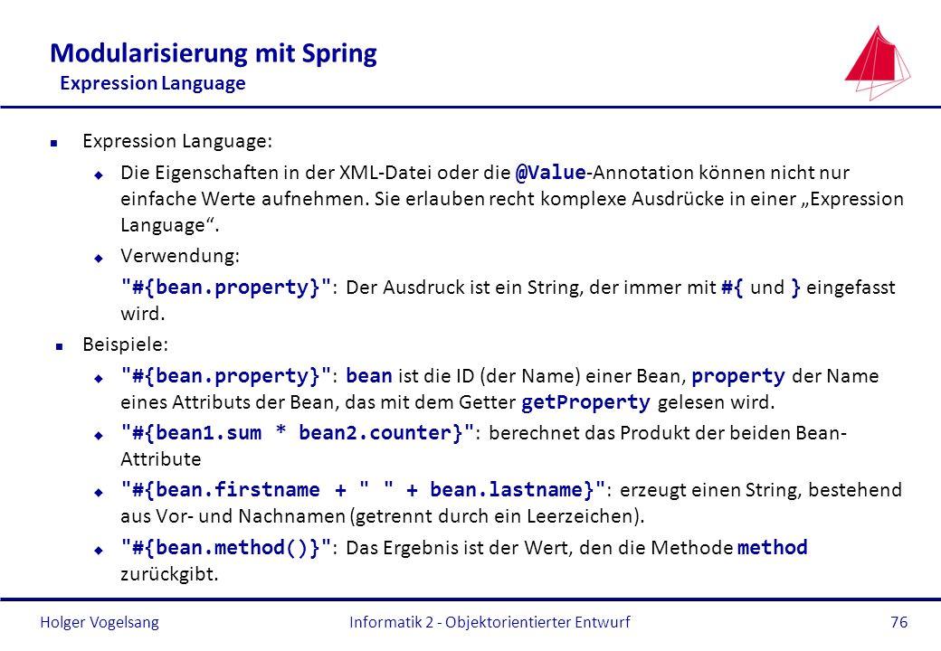 Modularisierung mit Spring Expression Language