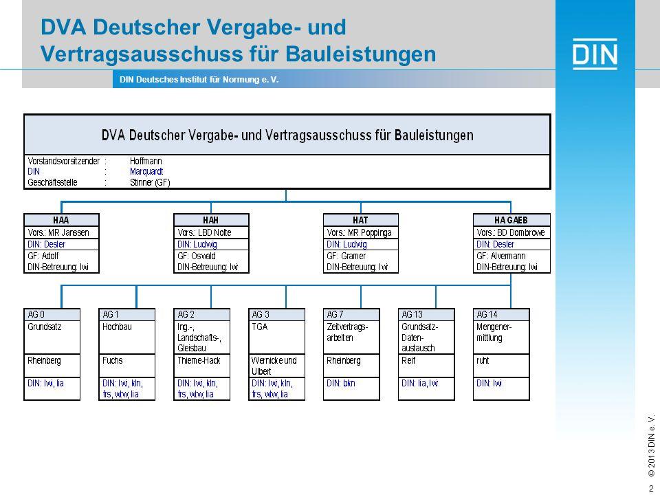 DVA Deutscher Vergabe- und Vertragsausschuss für Bauleistungen