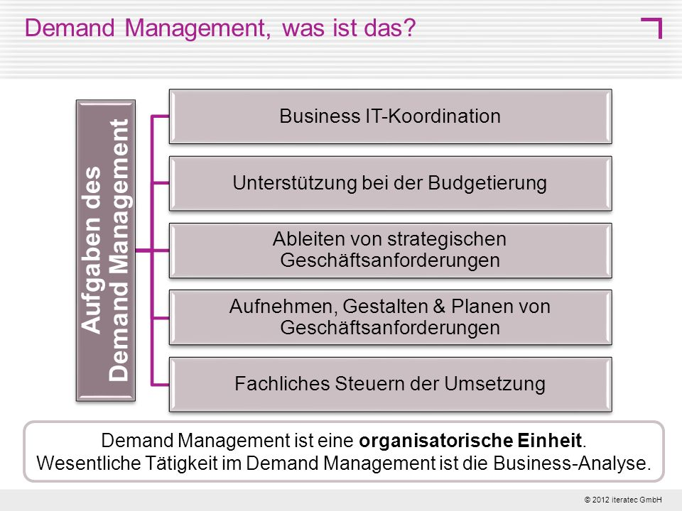 Demand Management, was ist das