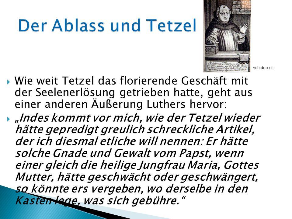 Der Ablass und Tetzel vebidoo.de.
