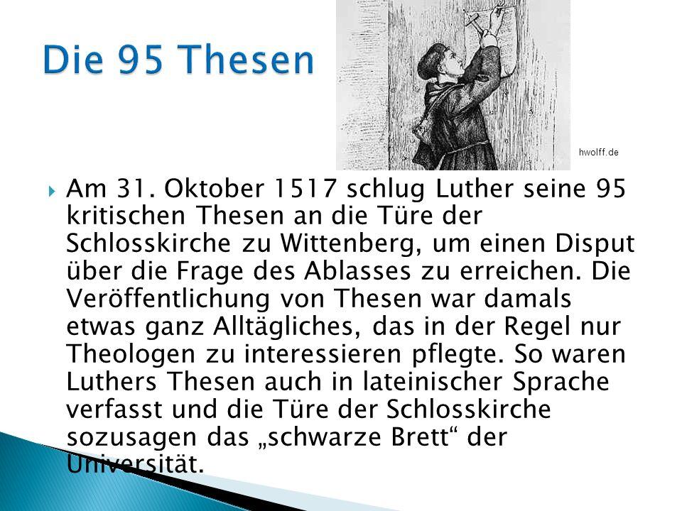 Die 95 Thesen hwolff.de.