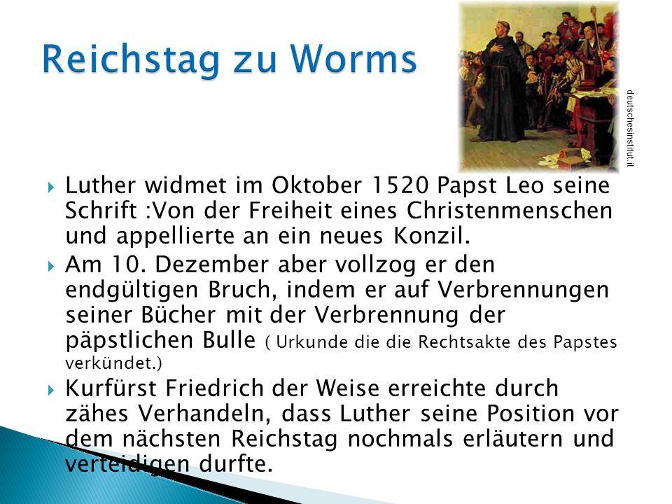 Reichstag zu Worms deutschesinstitut.it.