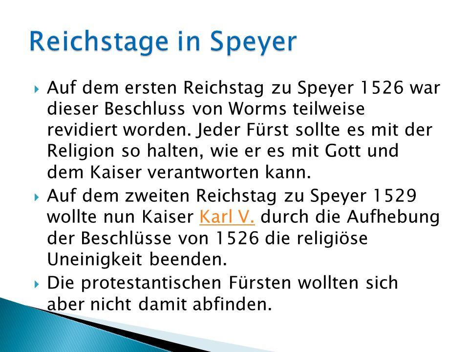 Reichstage in Speyer