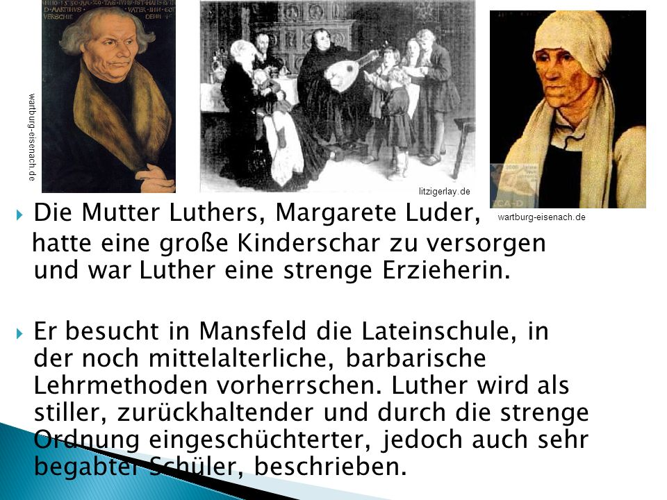 Die Mutter Luthers, Margarete Luder,