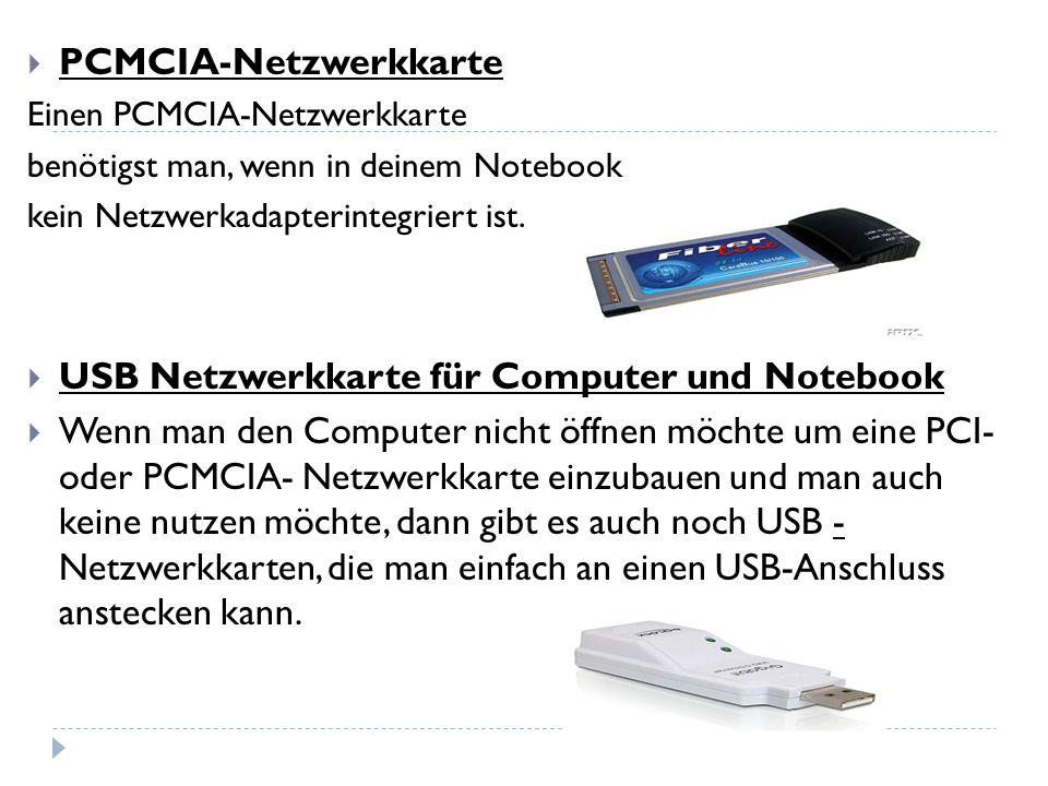 PCMCIA-Netzwerkkarte