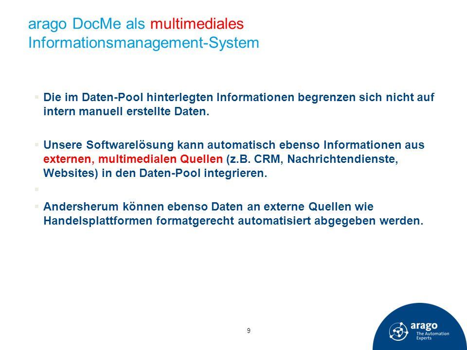 arago DocMe als multimediales Informationsmanagement-System