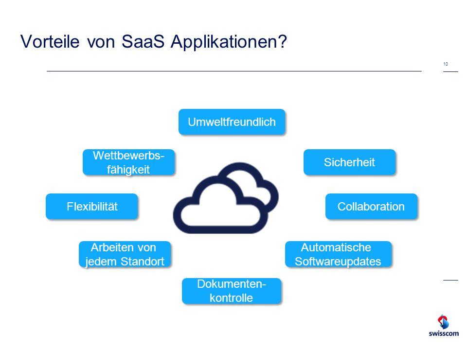Vorteile von SaaS Applikationen