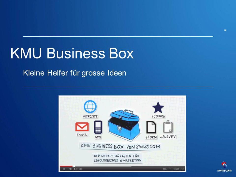 KMU Business Box Kleine Helfer für grosse Ideen