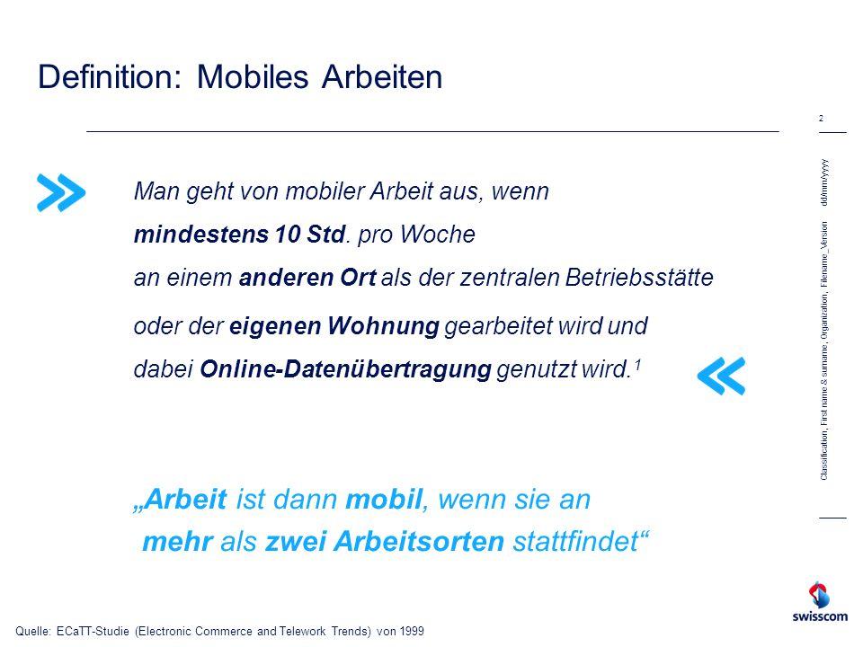 Definition: Mobiles Arbeiten