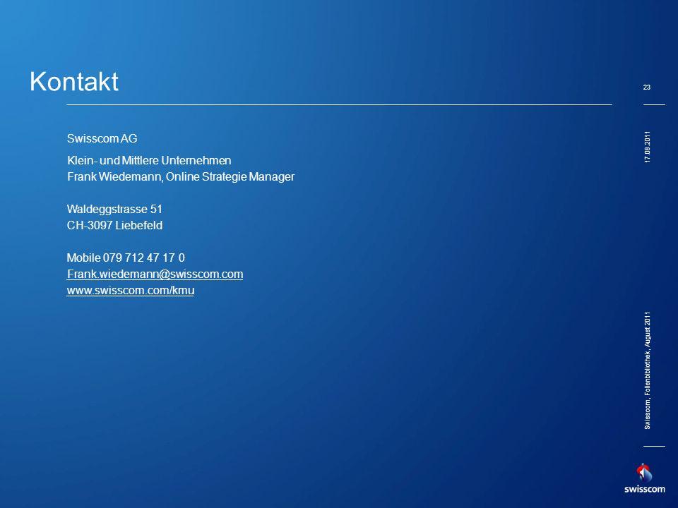 Kontakt dd/mm/yyyy Swisscom AG Klein- und Mittlere Unternehmen