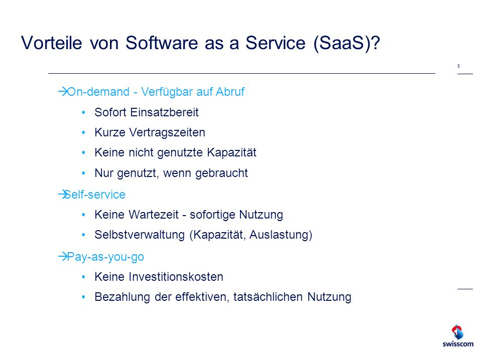 Vorteile von Software as a Service (SaaS)