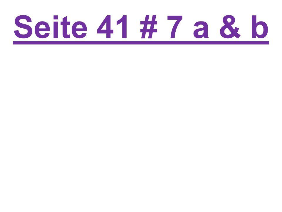 Seite 41 # 7 a & b