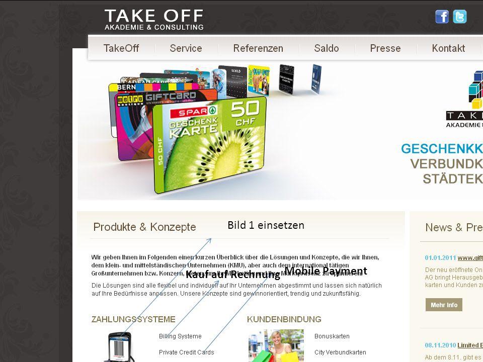 Bild 1 einsetzen Mobile Payment Kauf auf Rechnung