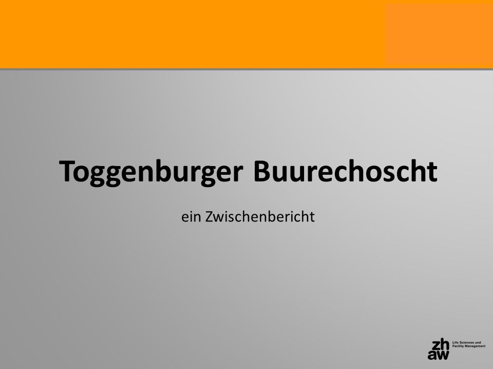 Toggenburger Buurechoscht