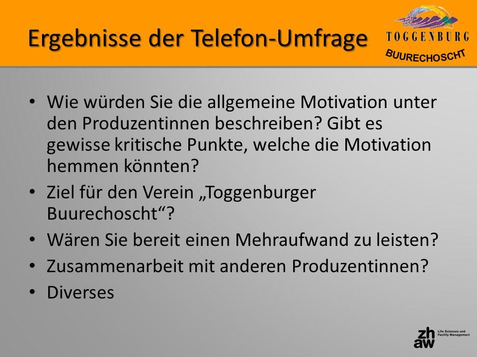 Ergebnisse der Telefon-Umfrage
