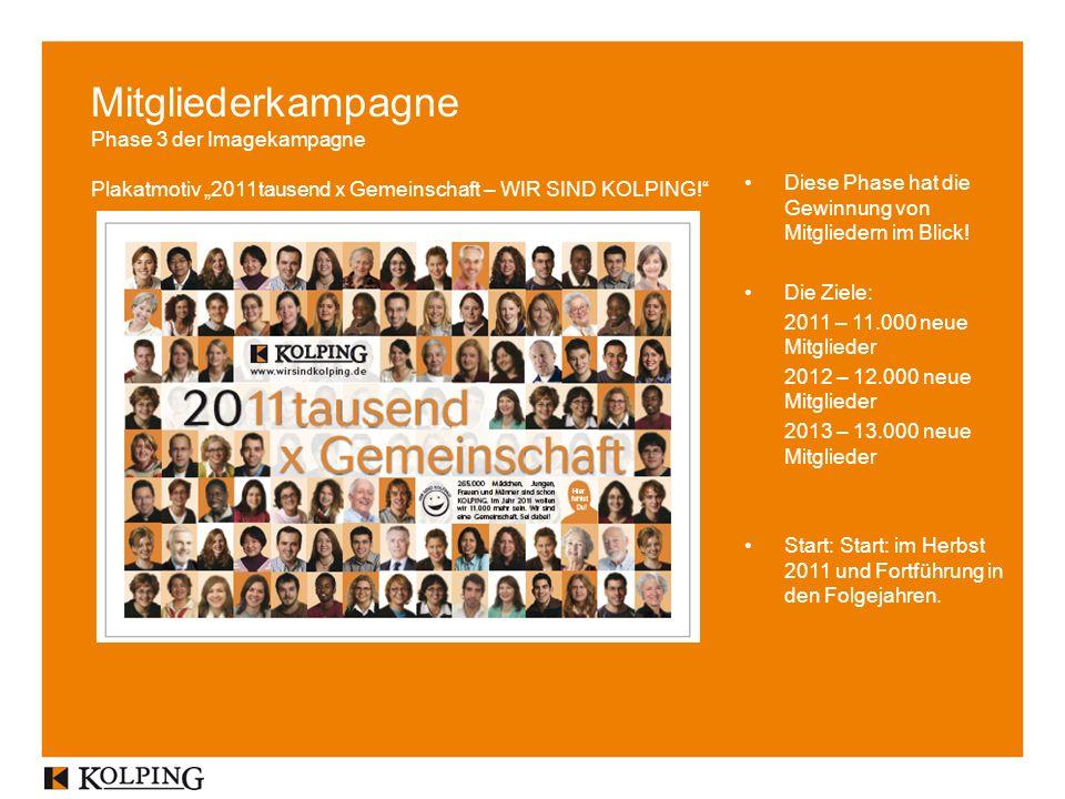Mitgliederkampagne Phase 3 der Imagekampagne